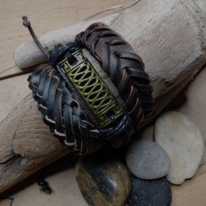 Set/3 Leather Adjustable Bracelets